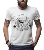 Muška majica, bela - Bite club, M