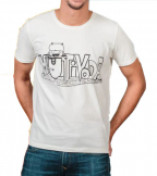 Muška majica, bela - Mutivoda, XXL