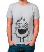 Muška majica, svetlo siva - Zlo i naopako, L