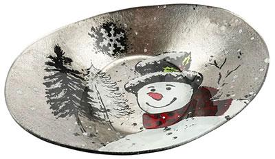 Novogodišnja činija - Snowman, L, Oval