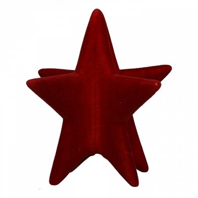 Novogodišnja figura - Tabel Decoration Star, Velvet