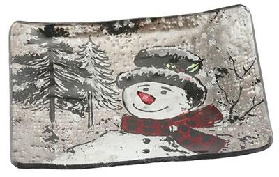 Novogodišnja posuda - Snowman, S, Rectangular