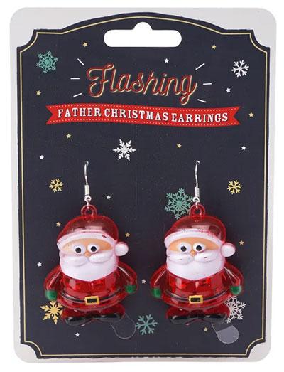 Novogodišnje minđuše - JTTW Flashing, Father Xmas