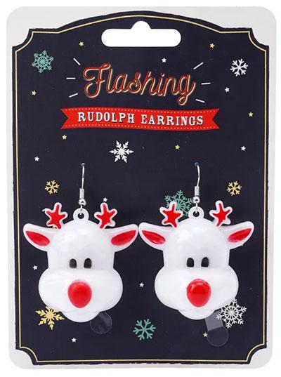 Novogodišnje minđuše - JTTW Flashing Rudolph