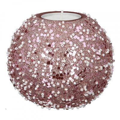 Novogodišnji svećnjak - Tealight Rose Nuggets glass