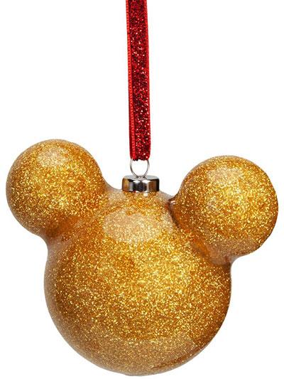 Novogodišnji ukras - Disney, Mickey Mouse, Gold Glitter