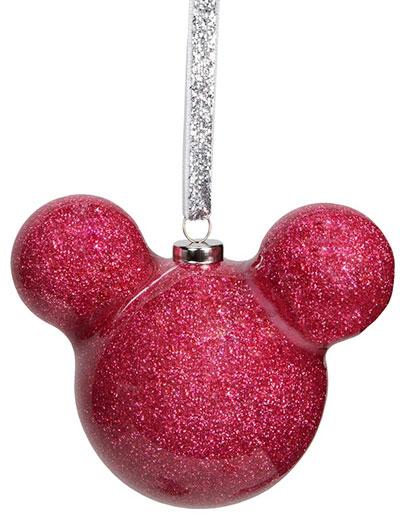 Novogodišnji ukras - Disney, Mickey Mouse, Pink Glitter