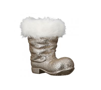 Novogodišnji ukras - Hanger Boots Flitter, champaign