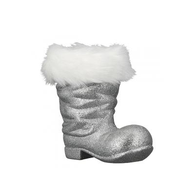Novogodišnji ukras - Hanger Boots Flitter, silver