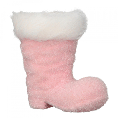 Novogodišnji ukras - Hanger Boots, rose flocked