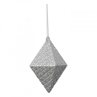 Novogodišnji ukras - Hanger Rhombus Flitter, silver