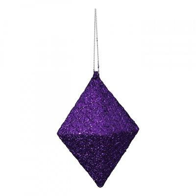 Novogodišnji ukras - Hanger Rhombus Flitter, violett