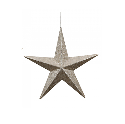 Novogodišnji ukras - Hanger Star Flitter champaign