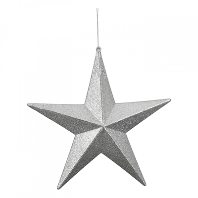 Novogodišnji ukras - Hanger Star Flitter, silver
