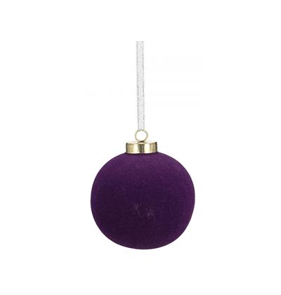Novogodišnji ukras - Hanging Christmas Ball Velvet, violet