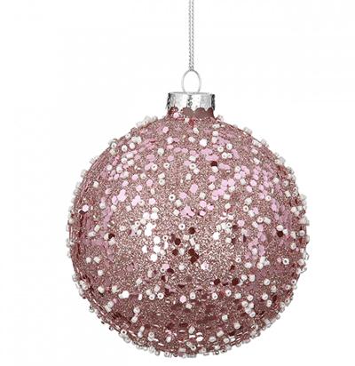 Novogodišnji ukras - Hanging Glassball Rose Nuggets