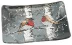 Posuda - Winter Robin, S, Rectrangular