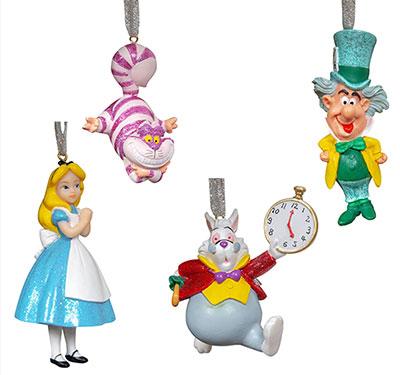 Set novogodišnjih ukrasa - Disney, Alice in Wonderland, 1/4