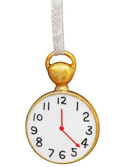 Set novogodišnjih ukrasa - Disney, Alice In Wonderland Hanging Clock 1/12