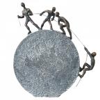 Skulptura - Lifting bronze