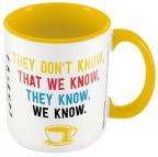 Šolja - Friends, We Know, Yellow Inner Colour