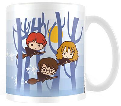 Šolja - Harry Potter, Chibi Harry, Ron, Hermione Flying