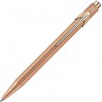 Caran d'Ache 849 Original Metallic Rose Gold Ballpoint Pen with Rose Gold Trim, Blue Ink