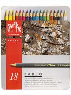 Caran d'Ache drvene bojice set/18, Pablo, Metal Box Set