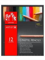 Caran d'Ache drvene pastelne bojice set/12, Artist, Paper Box Set