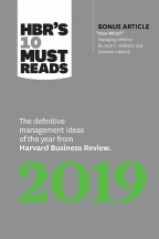 HBR's 10 Must Reads 2019