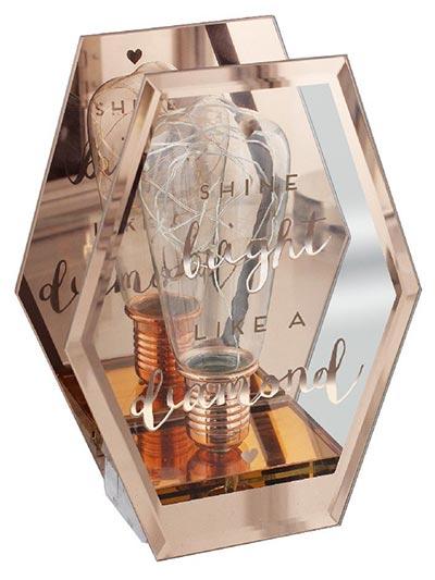 LED lampa - Shine Bright Like a Diamond