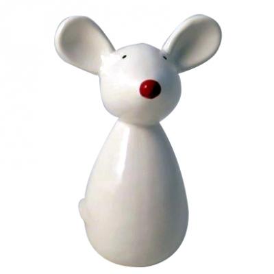 Novogodišnja figura - Mouse with red nose
