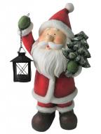 Novogodišnja figura -Santa With Lantern