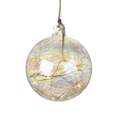 Novogodišnji ukras - Light Up Glass Bauble, L