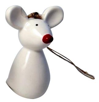 Novogodišnji ukras - Mouse with red nose