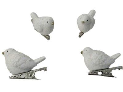 Set novogodišnjih ukrasa - White Bird on Clip