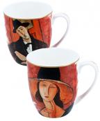Set šolja - Modigliani The woman in a hat