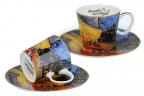 Set šolja za espreso - Van Gogh, Caffe on Terrace