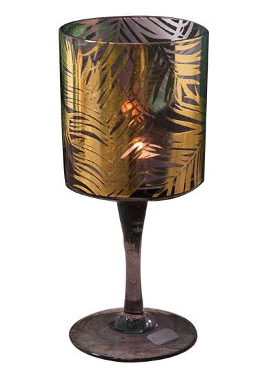 Svećnjak - Gold Palm Leaf