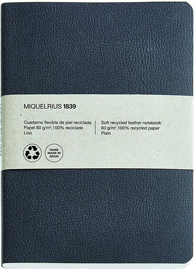 Agenda - Black, Recycled Leather