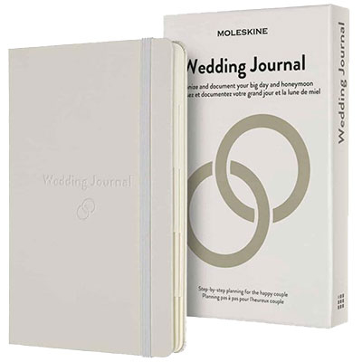 Agenda - Moleskine, Passion Journal, Wedding, Pearl White