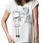 Ženska majica, bela - Idi u peršun, M