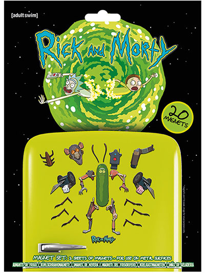 Magnet set/20 - Rick and Morty, Weaponize The Pickle