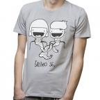 Muška majica - Šalimo se, siva, L