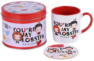 Set šolja i podmetač - Friends, You're My Lobster, Chibi
