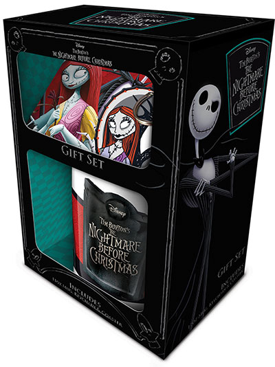 Set šolja, privezak i podmetač - Nightmare Before Christmas, Jack & Sally