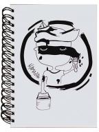 Škrabook - Namazan, A5, linije, bela