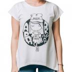 Ženska majica - Apa drapa, bela, M
