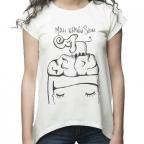 Ženska majica - Mali nervni slon, bela, XL