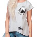 Ženska majica - Razbijam strahove, siva, S